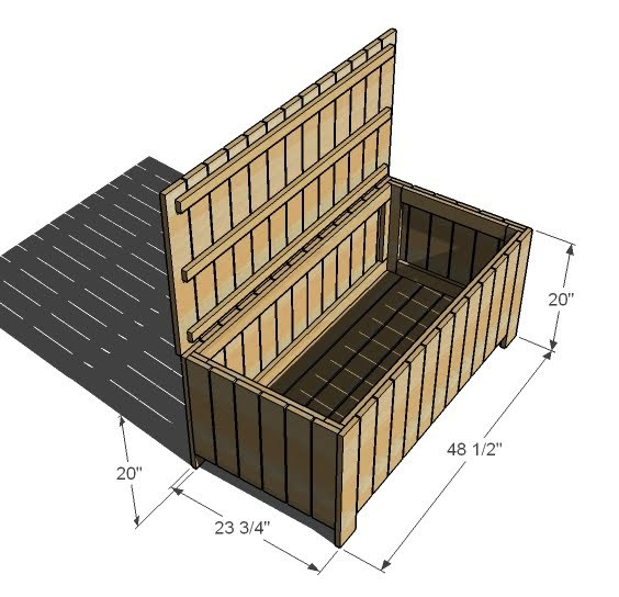 Outdoor Storage Bench | Free and Easy DIY Project and Furniture Plans ...