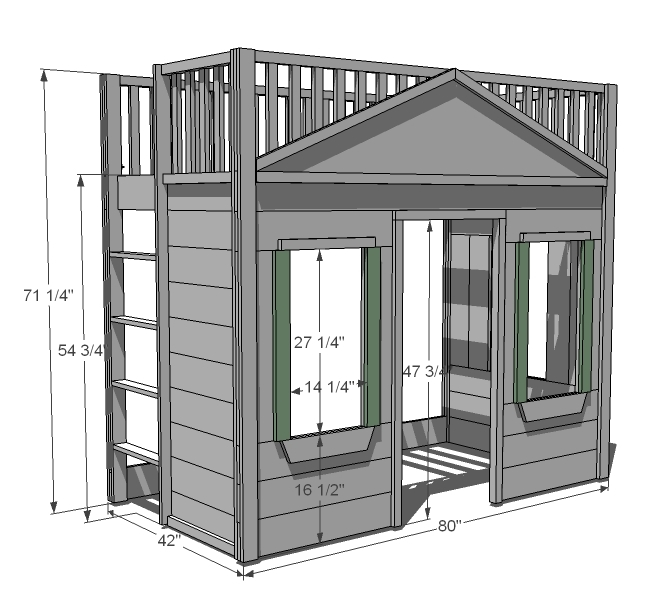 idea for stairs going up to attic - Woodwork Youth Loft Bed Plans PDF Plans
