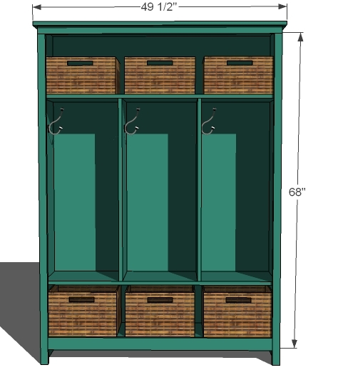 locker unit freestanding wood project