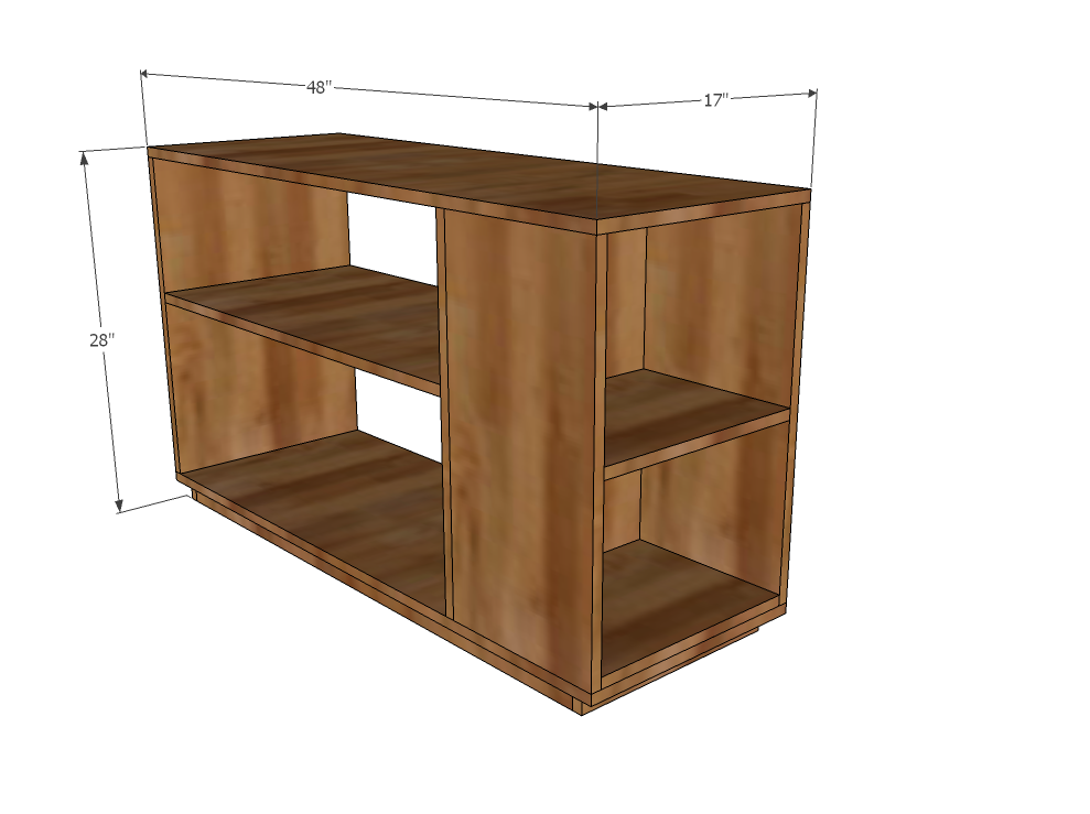 Ana white eco office large bookshelf made with for Large bookcase plans