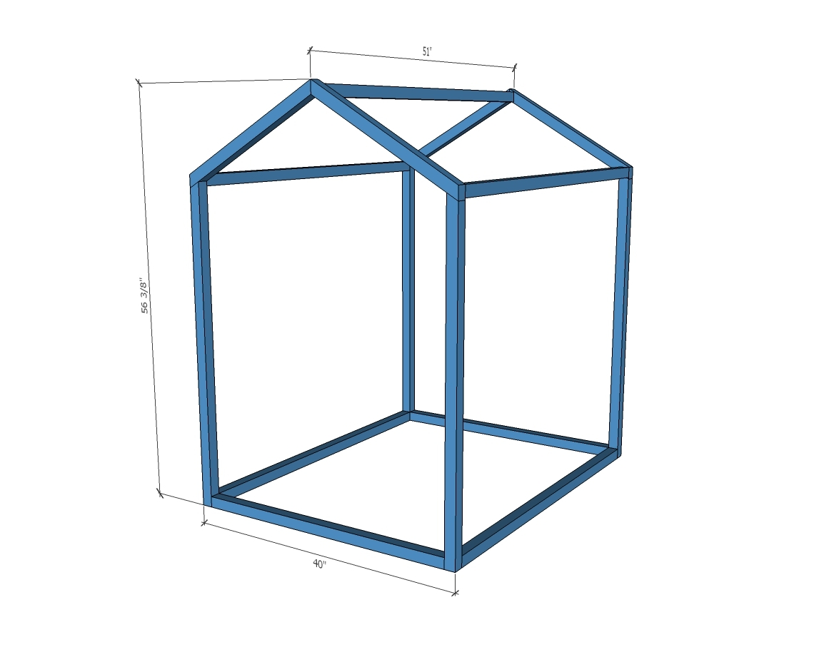 2x2 Indoor Playhouse Frame Ana White