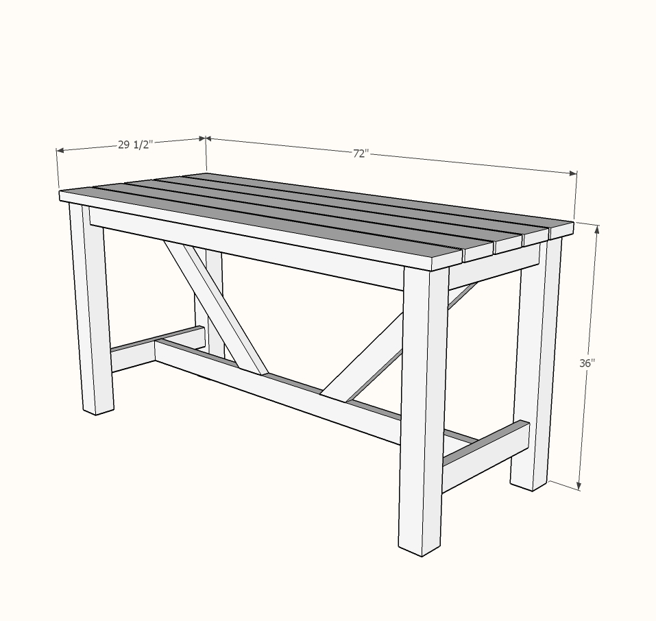 Outdoor Bar Table Ana White