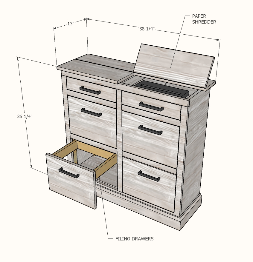 paper shredder cabinet plans