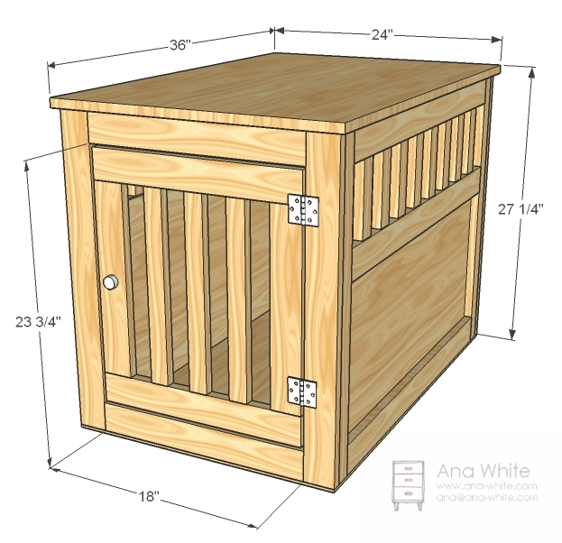 large wood pet kennel end table - Dog Kennel Design Ideas