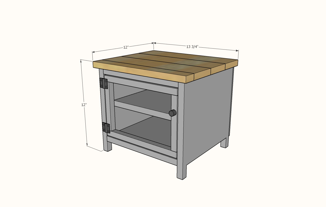 countertop pie safe plans