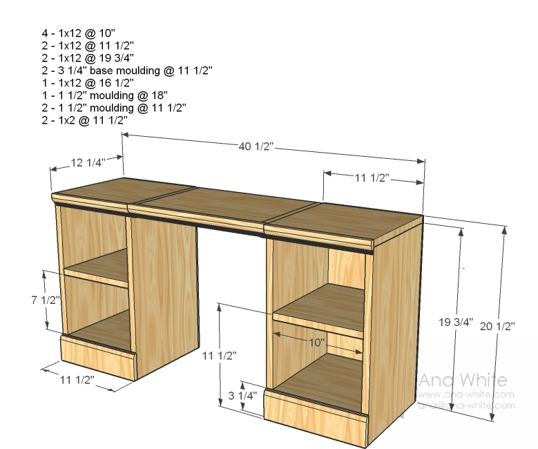how to build a vanity table 2