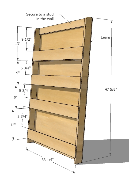 Ana White Book Or Magazine Ladder Shelf Diy Projects