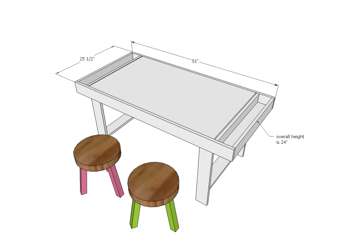 kids play table with storage dimensions