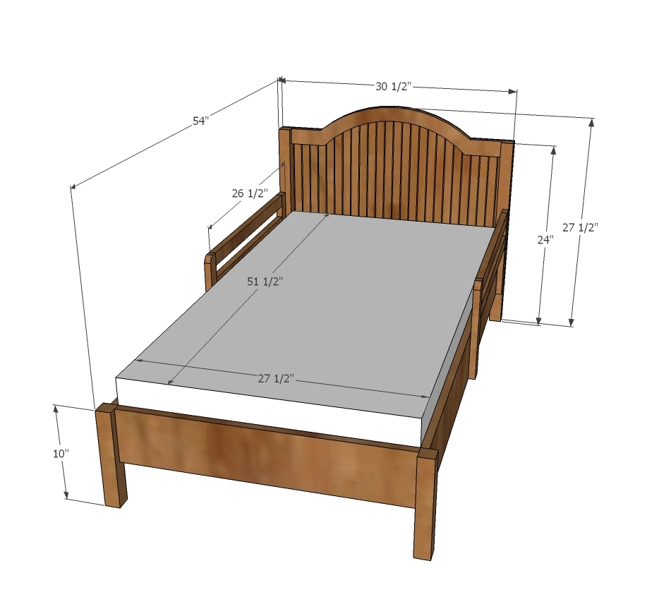 New Traditional Wood Toddler Bed