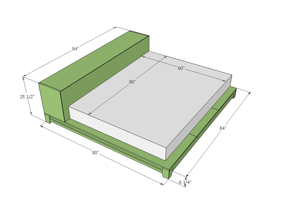 Diy Full Size Platform Bed With Storage Plans Online