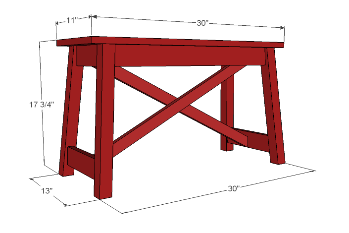 small vintage bench plans