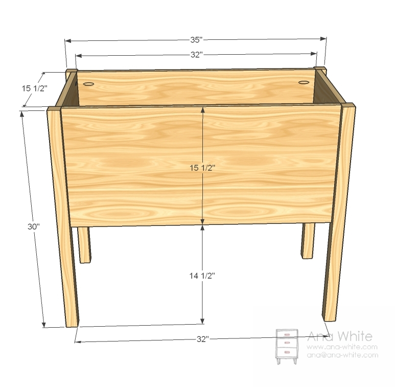 raised toy box dimensions