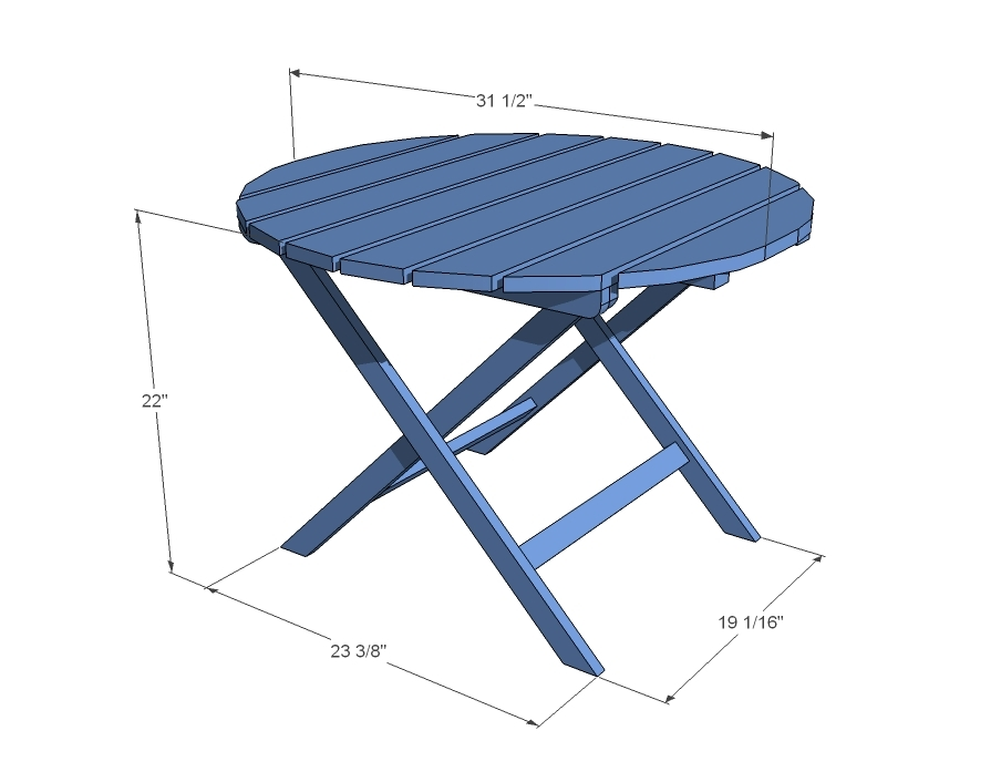 Patio Table Dimensions Modern