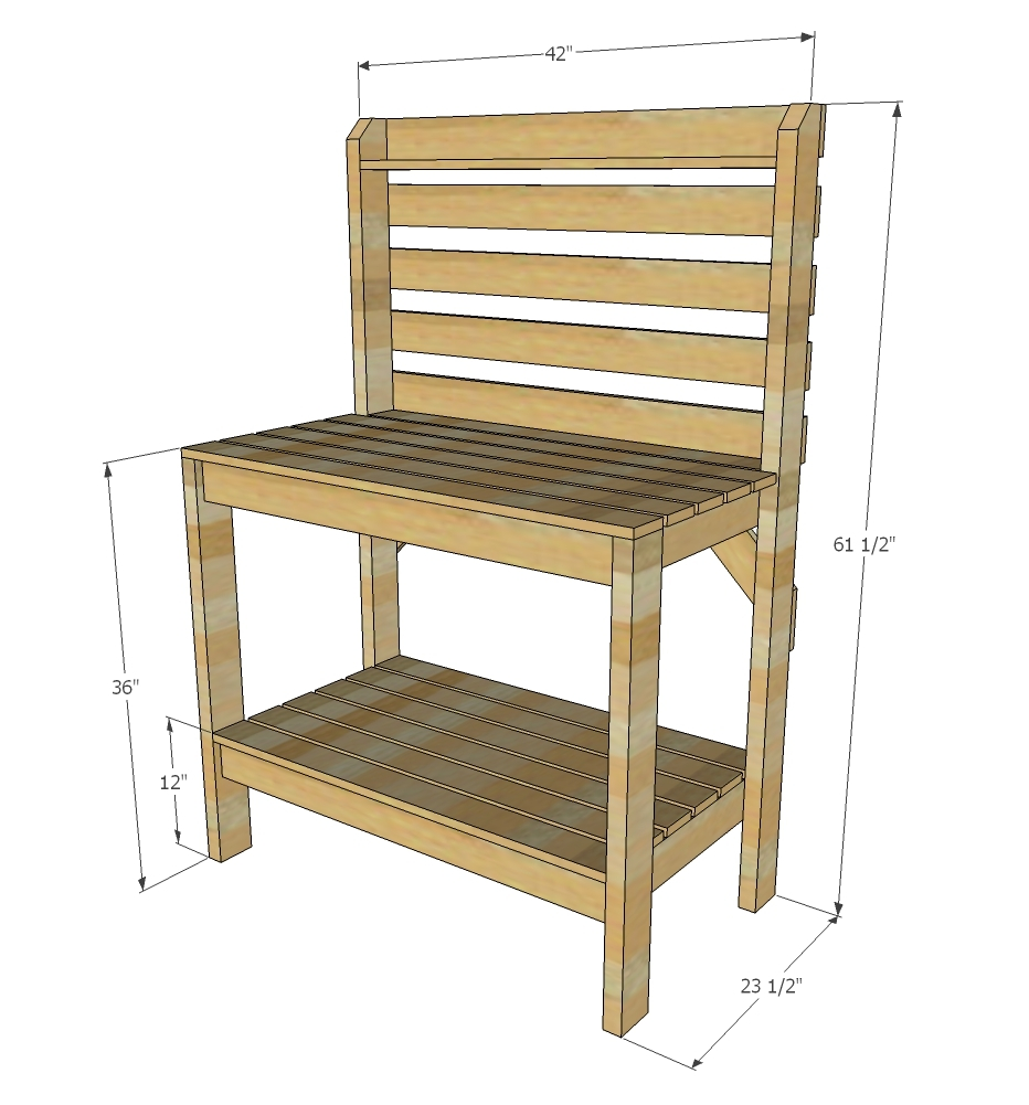 Ana white ryobination potting bench diy projects Potting bench ideas