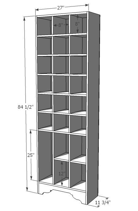 dimensions - Shoe Rack Plans