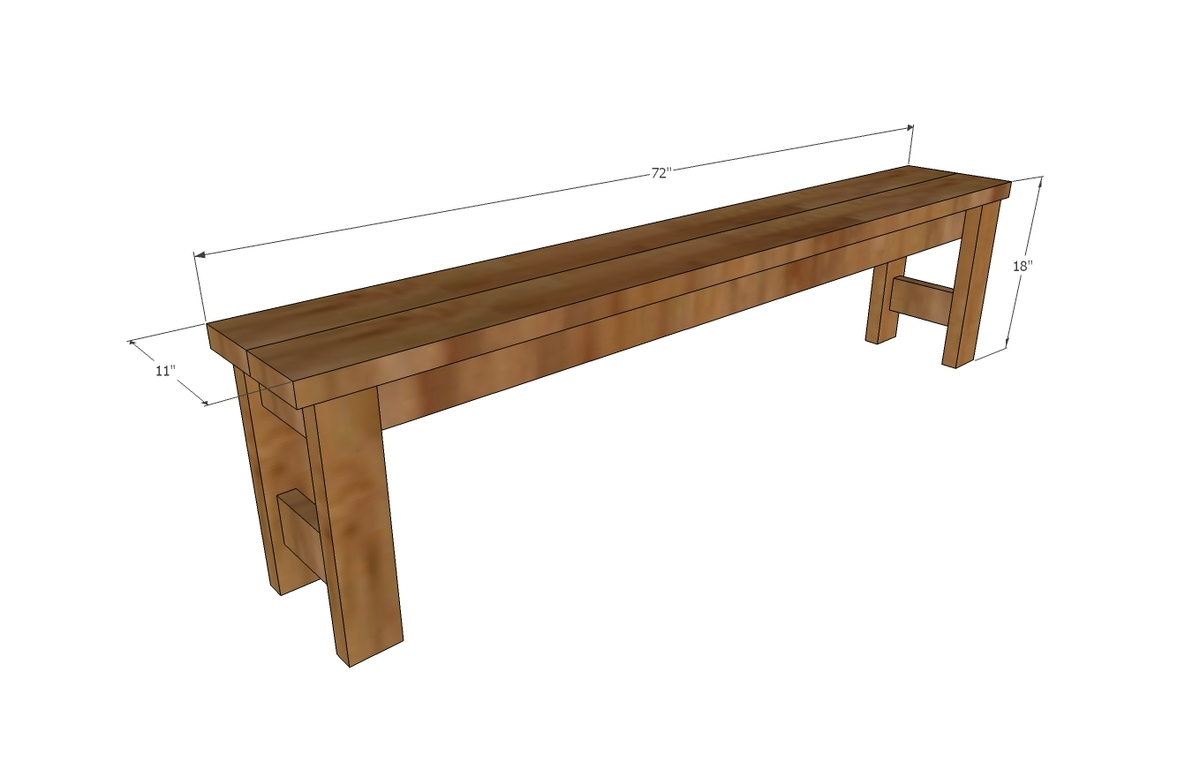 Beginner Farm Table Benches 2 Tools 20 In Lumber