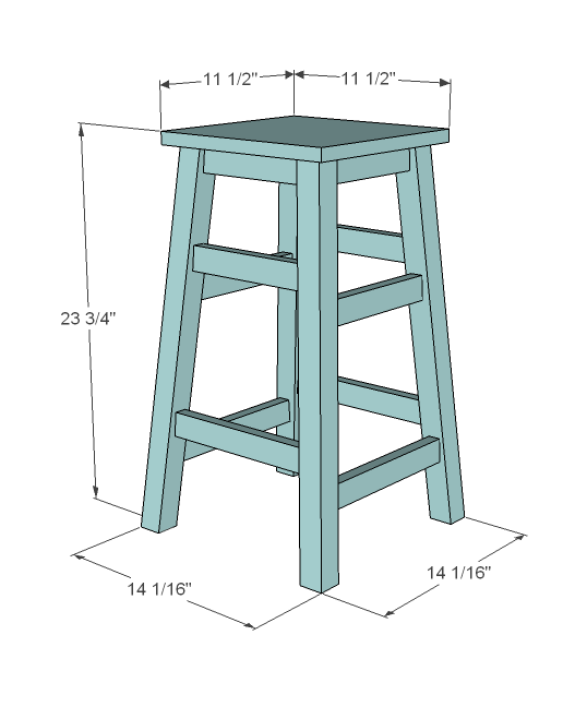 Ana White Simplest Stool DIY Projects : simplest stool plans diy furniture end table 6 from www.ana-white.com size 516 x 659 png 20kB