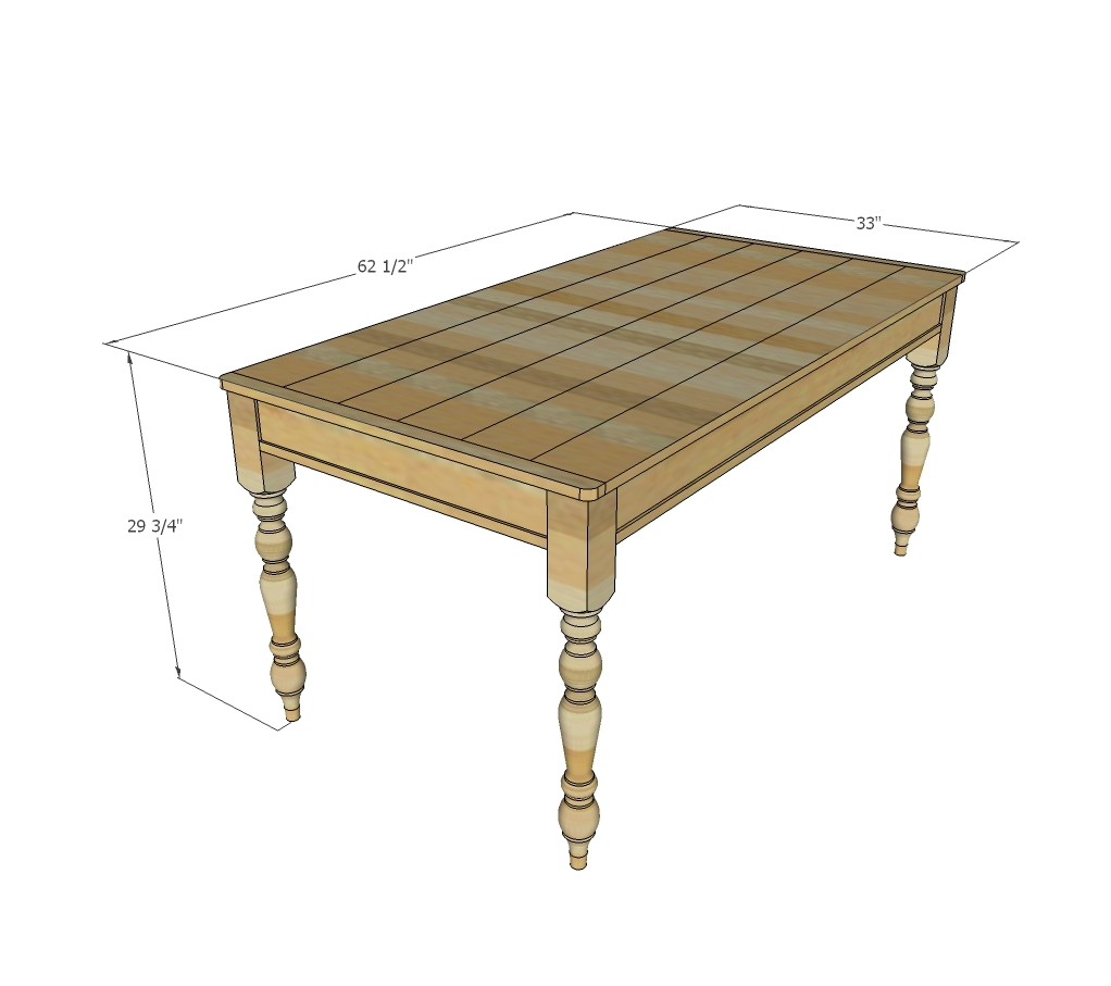 Build A Kitchen Table: Small Old English Style Farmhouse Dining Table