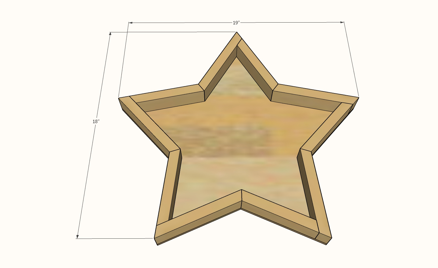 Wood star dimensions