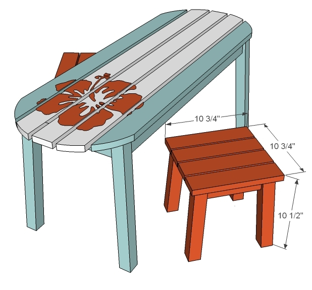 Ana White Bench Seats For Child Surf Board Outdoor Table