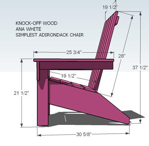 This is a photo of Printable Adirondack Chair Plans pertaining to full size