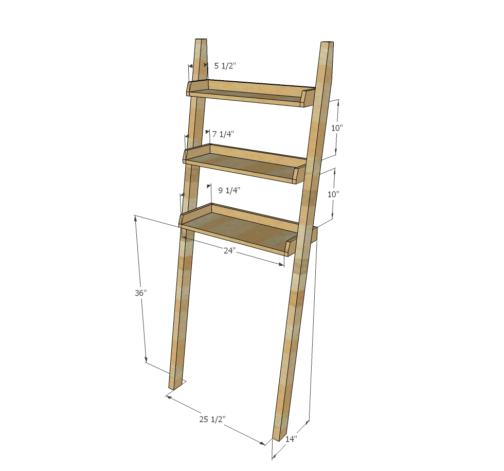over toilet ladder shelf dimensions