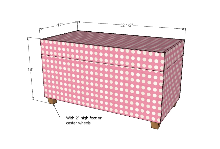 Wooden Ottoman With Storage Designs ~ Ana white upholstered toybox ottoman diy projects