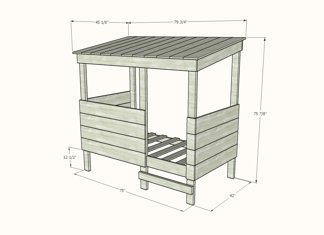 treehouse bed dimensions for woodworking plan