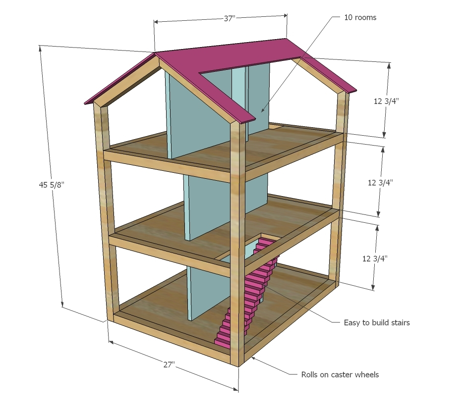 Dollhouse Furniture Plans Free additionally Furniture Plan Toys ...