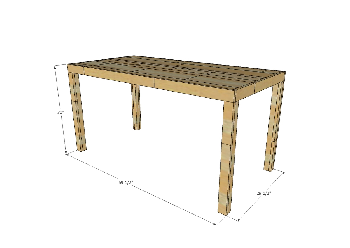 Emmerson Parsons Table Modern Reclaimed Wood Dining