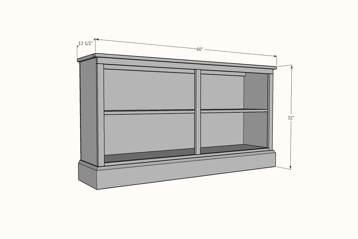 white bookcase plans dimensions
