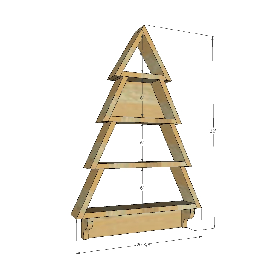 Tree Wall Shelf Ana White