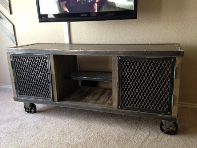 Ana white industrial media console diy projects