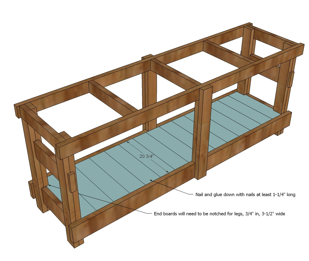 2x6 workbench plans. attach 2x2 cleats to insides of 2x6 aprons, about 3/4\ workbench plans