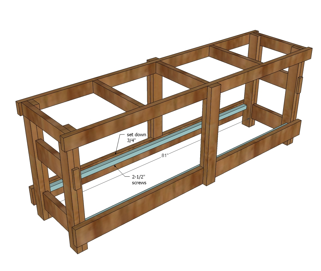 2x4 Workbench Plans: Jilly And Mia Workbench Console - DIY Projects