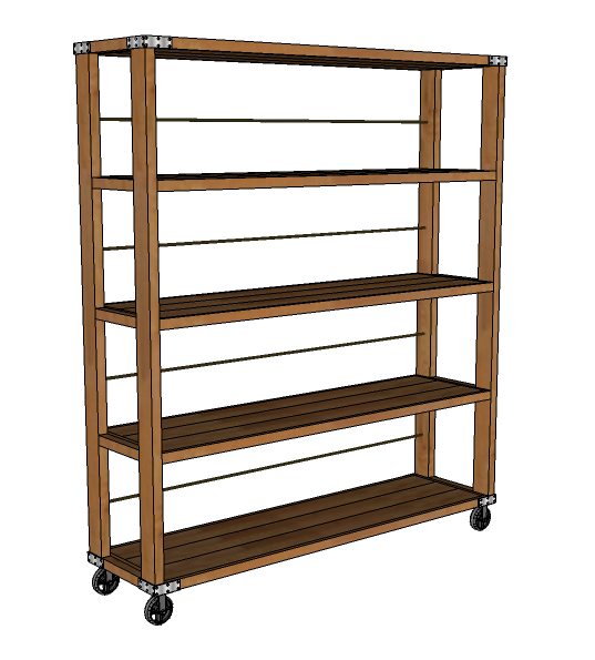 Perfect Rolling Industrial Shelves