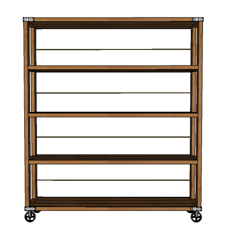 Roll These Industrial Shelves Into Your Dining Room Or Living Room For A  Little Extra Storage With A Lot Of Style. Features Industrial Hardware,  Rustic ...