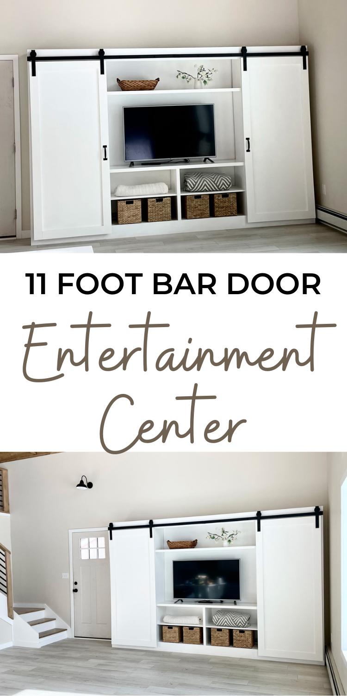 11 Foot Barn Door Entertainment Center