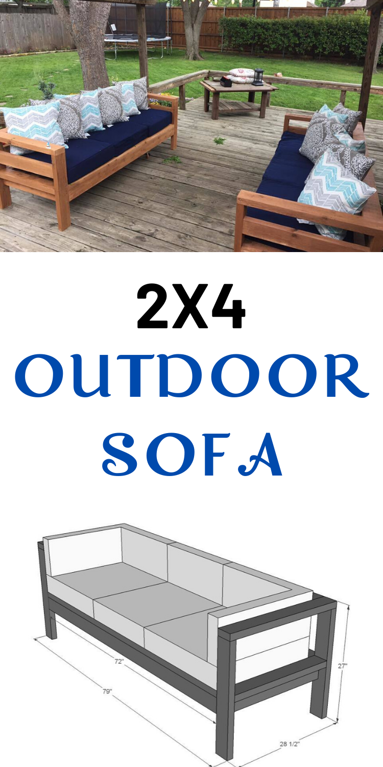 2X4 Outdoor Sofa