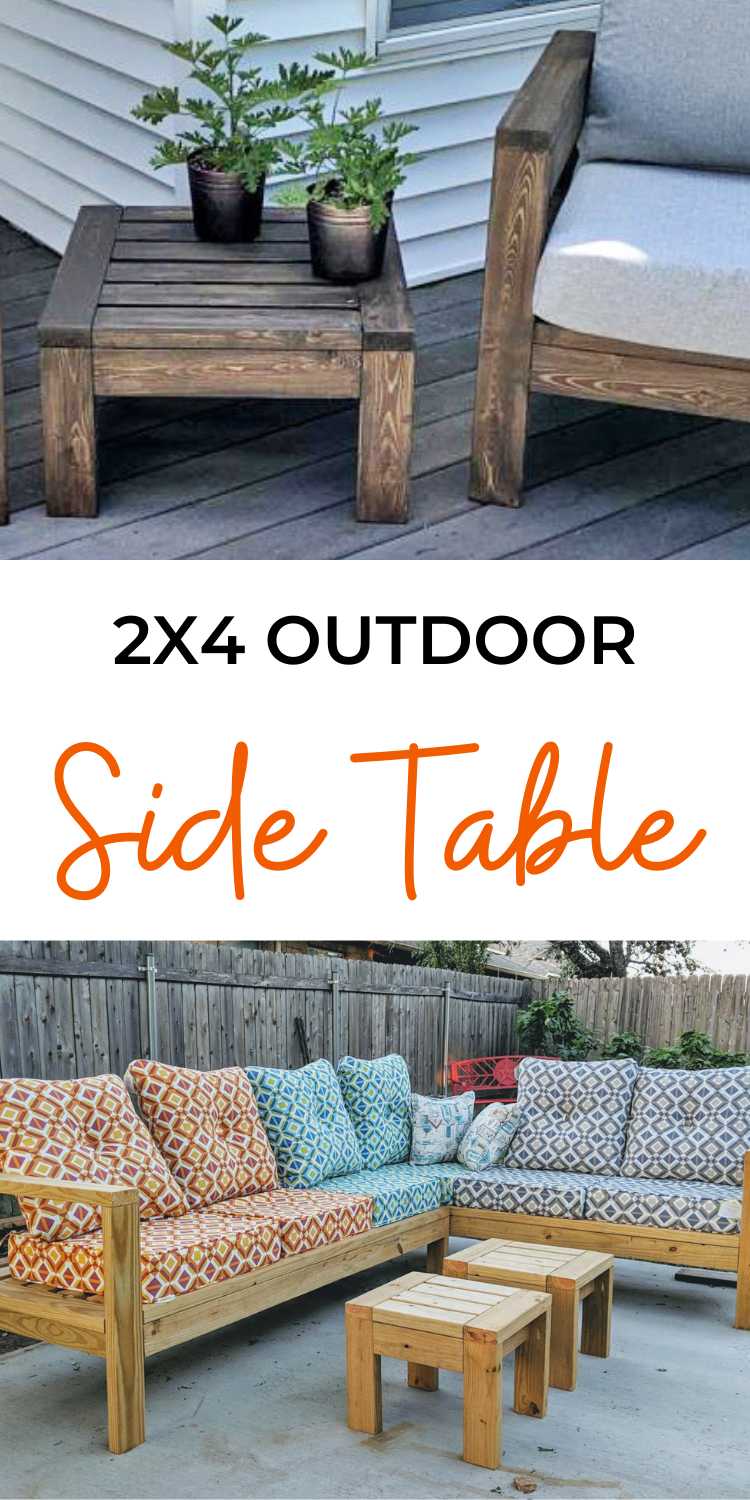 2x4 Outdoor Side Table