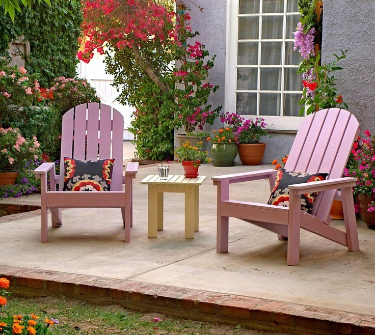 ana white adirondack chair with side tables