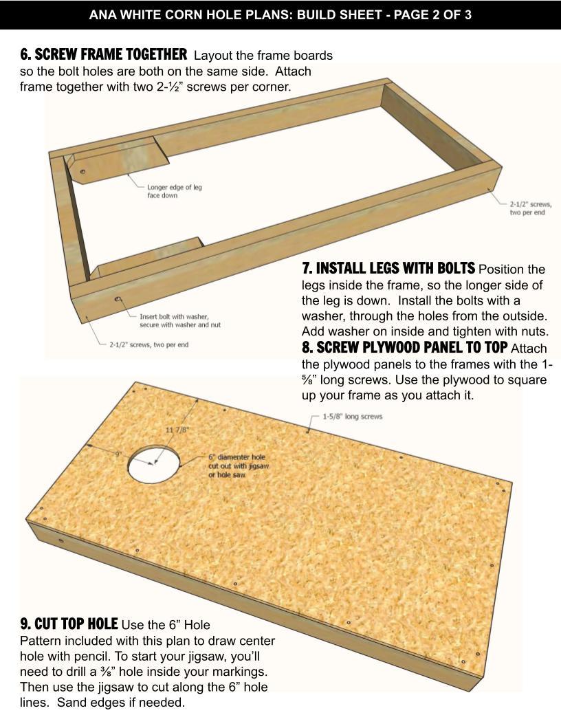 corn hole plan