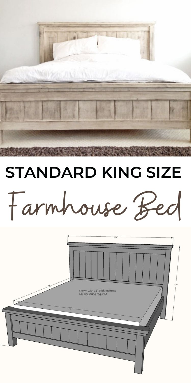 Farmhouse Bed King Size