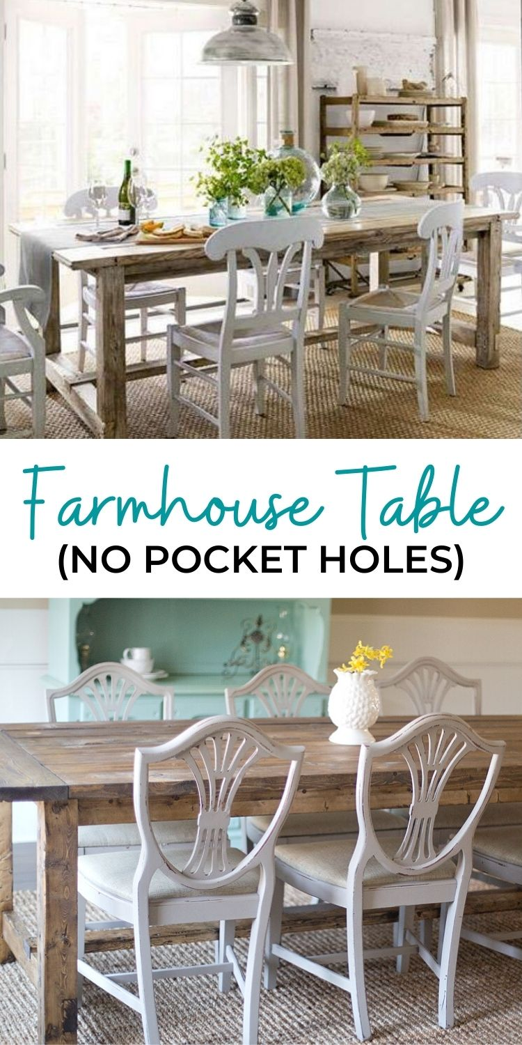 Farmhouse Table No Pocket Holes
