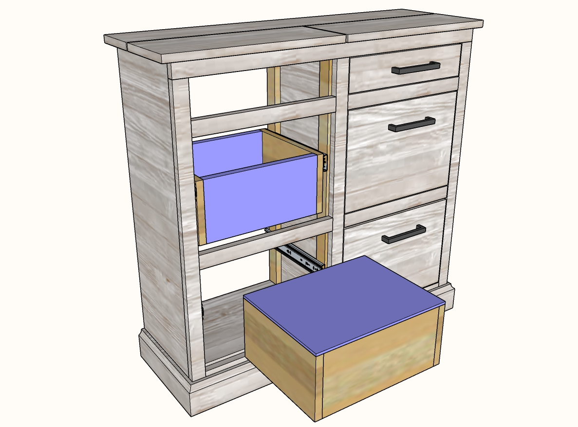 how to install drawers - front, back and bottom