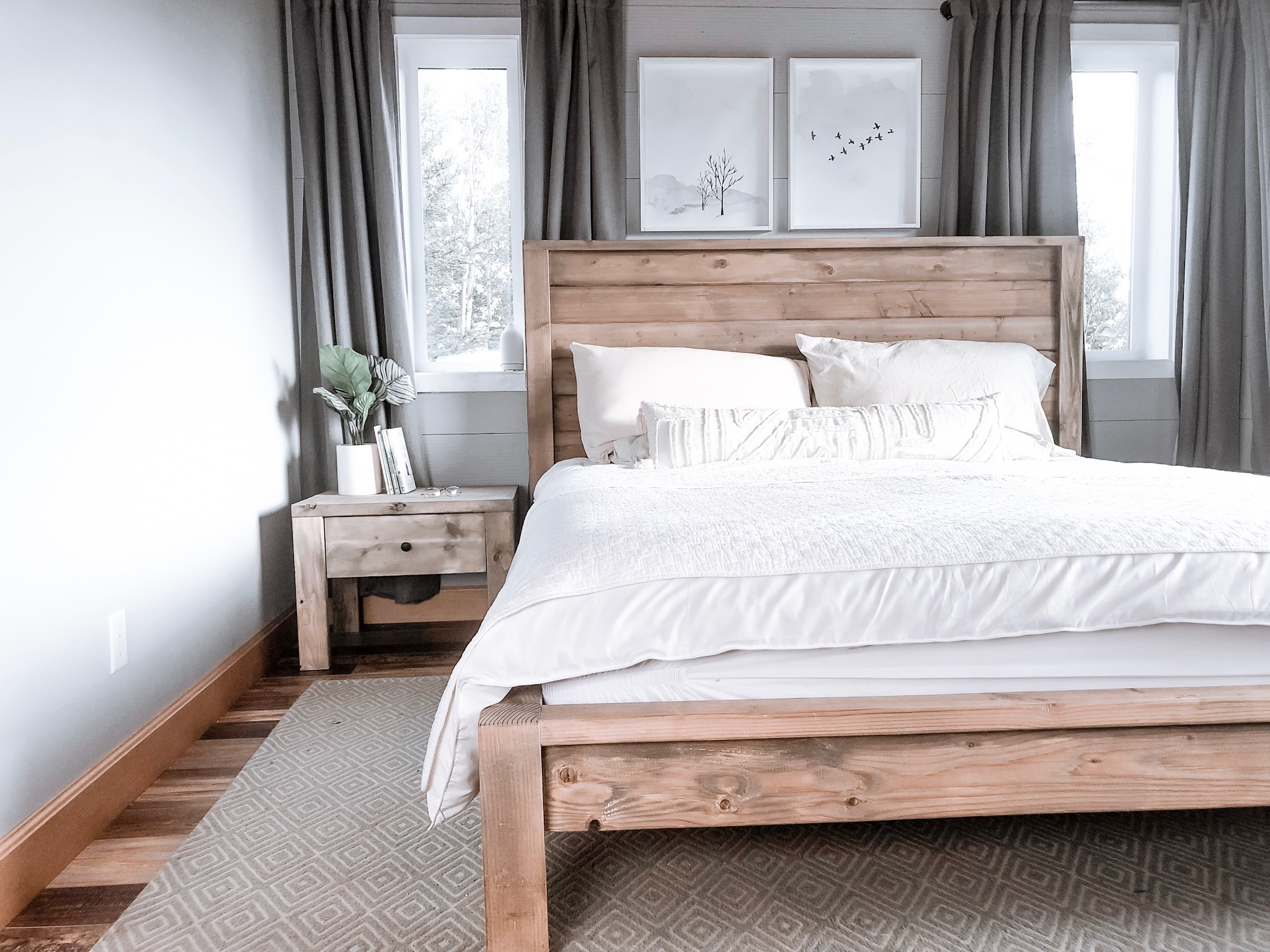modern farmhouse bed frame