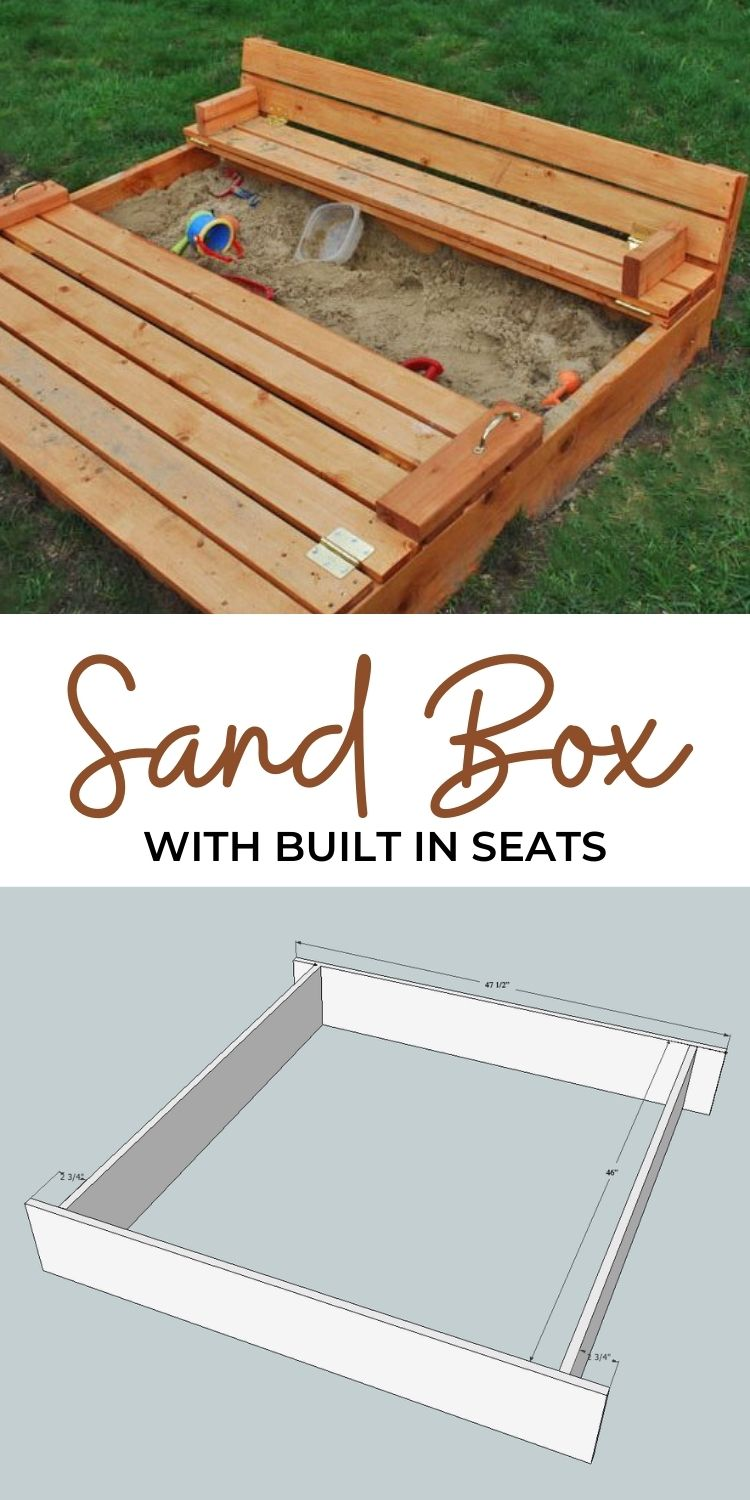 Sand Box with built in seats