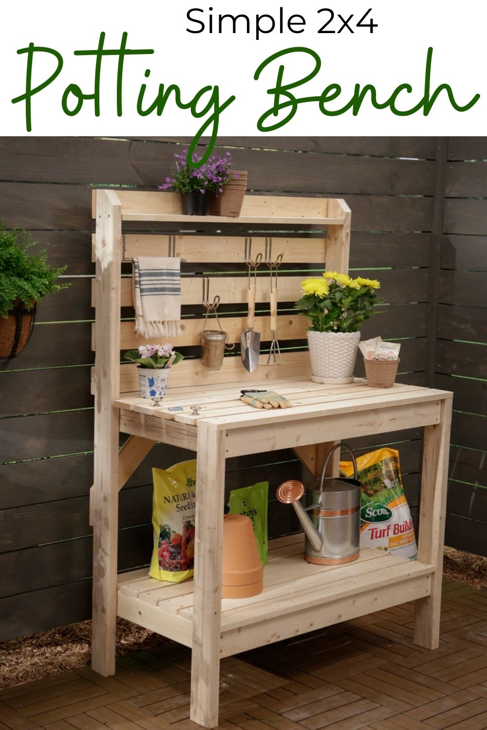 Simple 2x4 Potting Bench