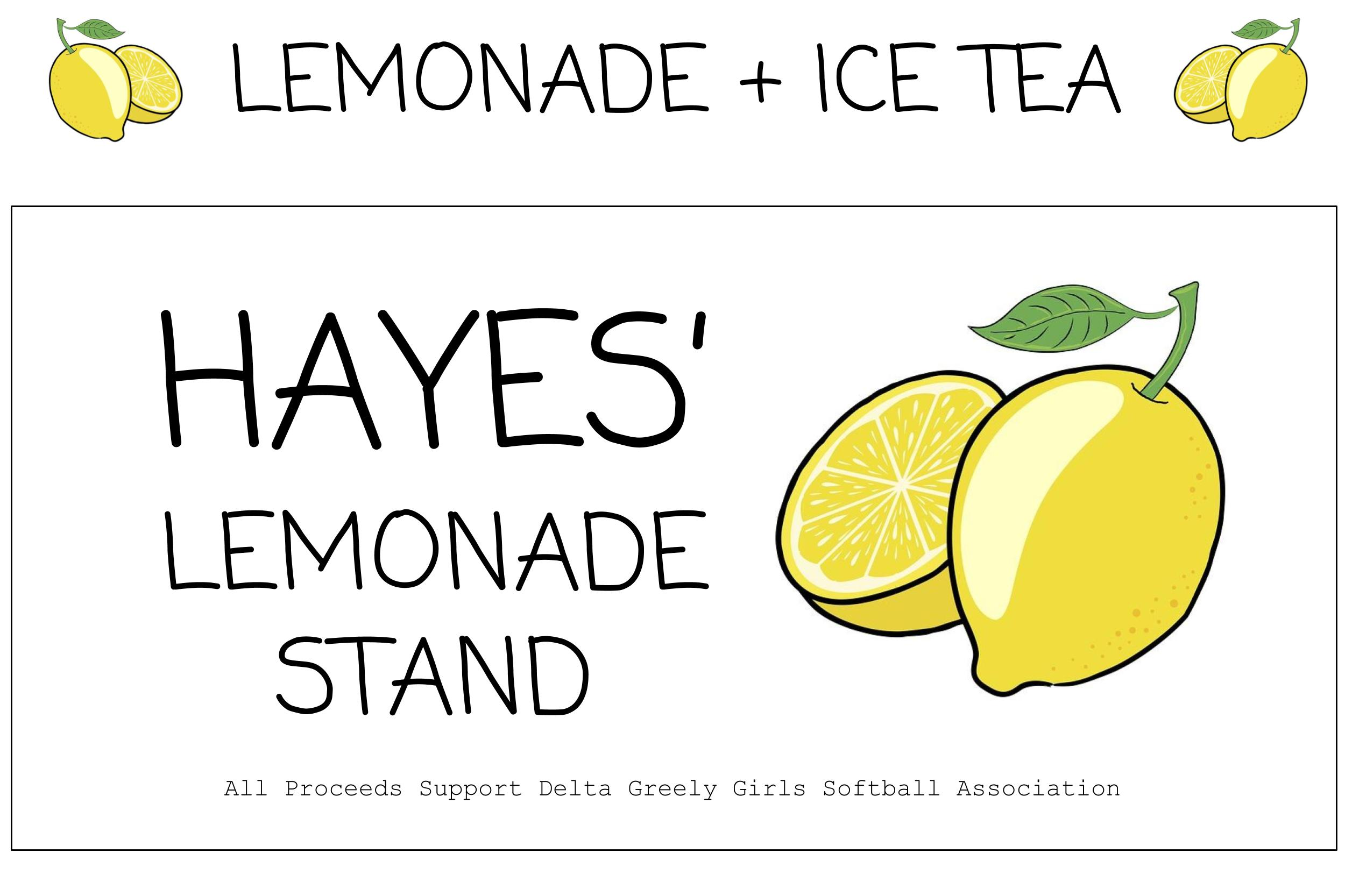 lemonade stand free printable