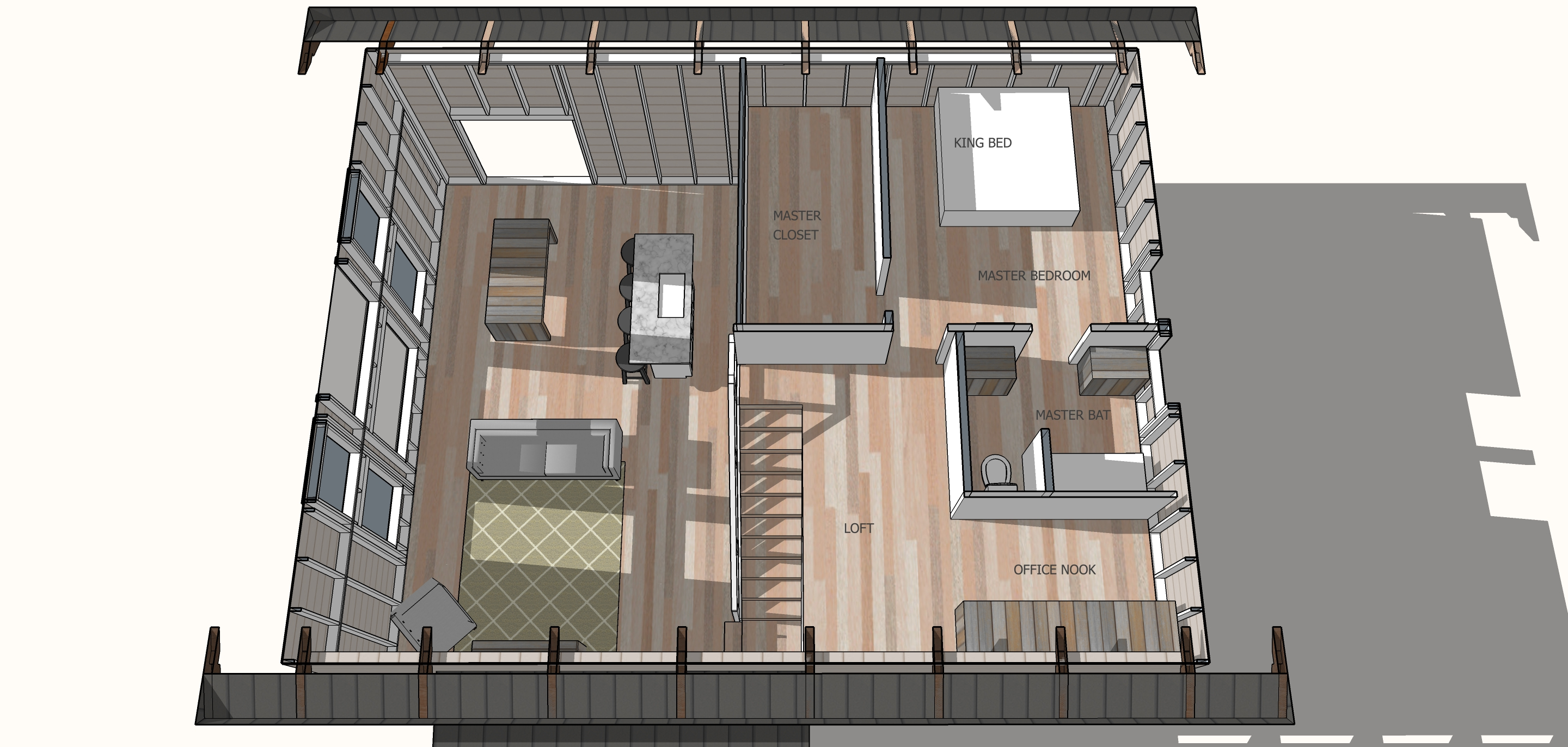 simple house plan upstairs loft